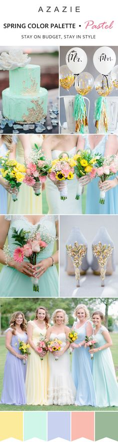 Stay on trend with pastels! With over 50+ colors to choose from, Azazie makes it easy for women to find their perfect shade ✨  Whether you are planning a garden wedding or a romantic spring wedding, these stunning pastel shades will be the perfect addition to your special day.Photos courtesy of robynicksphotography.com