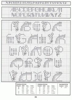 abc point de piqure sur pinterest alphabet point arri re et point de croix. Black Bedroom Furniture Sets. Home Design Ideas