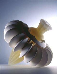 Cornucopia mold-cast ceramic and glass sculpture by Etsuko Tashima… Glass Ceramic, Ceramic Clay, Glass Design, Design Art, Kiln Formed Glass, Sculpture Art, Ceramic Sculptures, Pottery Sculpture, Contemporary Ceramics