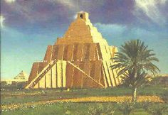 Map of Babylon with Ziggurat   nor hanging gardens seven staged ziggurat mud brick neo babylonian c ...