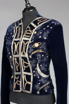 A fine and important Elsa Schiaparelli couture Zodiac jacket, the Astrology Collection, Winter, 1938-39