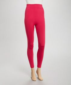 Another great find on #zulily! Fuchsia Fleece-Lined Leggings #zulilyfinds