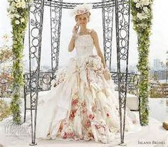 wedding dress with flowers - Yahoo Search Results
