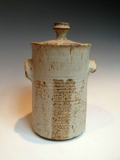 Kenneth Ferguson 1960s Large Early Lidded Stoneware Cannister Jar