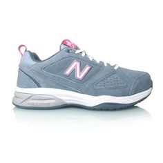 New Balance - Womens Cross Training Shoes - Grey/Pink - Fitness Mania Running Wear, Pink Workout, Gel Cushion, Athletic Looks, Mens Crosses, Cross Training Shoes, New Balance, Black Shoes