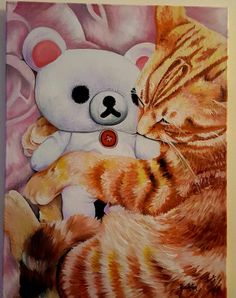 Free shipping// 46 x 60 cm// Ginger cat// Cat// cute animal paintings// Sweet ginger dreams by SoulArtAlina on Etsy Animal Paintings, Oil Paintings, Ginger Cats, Cat Cat, Cute Animals, Snoopy, Teddy Bear, Dreams, Free Shipping