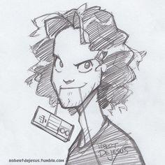 Danny Gif by Banzchan Cartoon Drawings Of People, Disney Drawings, Drawing People, Art Drawings, Cartoon Drawing Tutorial, Cartoon Girl Drawing, Drawing Tutorials, Drawing Tips, Caricatures