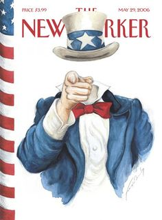 The New Yorker May 2006 magazine cover of a faceless Uncle Sam
