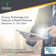 Attending #WestAfricaCom? Let's meet and discuss about our #switching, #mFinance, #BFs, #telecom solutions. To fix a meeting time with our team, send us an email to sales@panamaxil.com. #events #africa #global #mBanking #FinTech