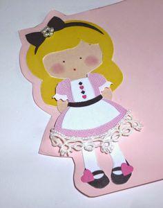 Card - Alice in wonderland pink 2