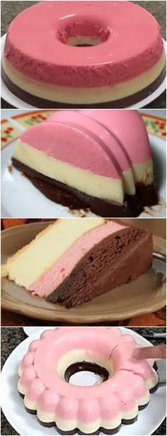 PENSA EM UMA DELÍCIA!!!PUDIM NAPOLITANO ( SEM FORNO ) VEJA AQUI>>>Pudim de Morango 1/2 caixa de leite condensado 1/2 caixa de creme de leite 100 ml de leite 1/2 sachê de gelatina #receita#bolo#torta#doce#sobremesa#aniversario#pudim#mousse#pave#Cheesecake#chocolate#confeitaria