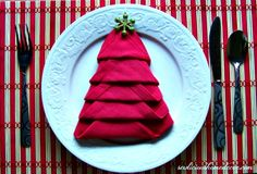 How To Fold A Christmas Tree Napkin Tutorial