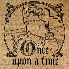Once Upon a Time Words Castle Text Word Calligraphy by Graphique