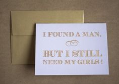 cute way to ask girls to be bridesmaids... :)