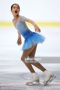 Kaitlyn Nguyen of United States performs in the Junior Ladies Free Skating Program during day four of the ISU Junior Grand Prix of Figure Skating at Dom Sportova Arena on September 2017 in. Figure Skating Outfits, Figure Skating Costumes, Figure Skating Dresses, Dance Outfits, Kids Outfits, Dance Costumes Lyrical, Beautiful Figure, Skateboard Girl, Grand Prix