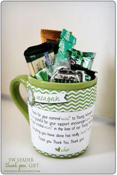 "Co""mint""ment, Encourage""mint"" and  Invol""mint"" thank you idea"