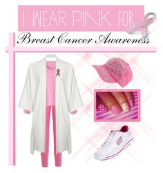 """""""I Wear Pink for _______."""" by teez-biz-nez ❤ liked on Polyvore featuring Bling Jewelry, Vionnet, Boohoo, Blugirl Folies, Skechers, women's clothing, women, female, woman and misses"""