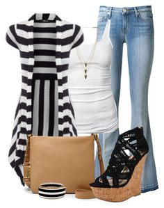 outfit by mkomorowski on Polyvore featuring polyvore fashion style James Perse Hudson Dollhouse FOSSIL Melanie Auld