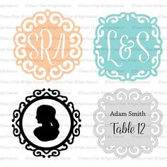 Our popular Elegant frames are now available as Digital SVG files. Compatible with silhouette cameo and cricut machines. We also offer cutting service if you don't want to cut your own!
