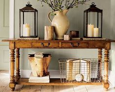 Beautiful entry table ideas to give some inspiration on updating your home or adding fresh and new furniture and decor, Hall table decor, Foyer table decor and Farmhouse sofa table. Sofa Table Decor, Table Decorations, Sofa Tables, Console Tables, Foyer Table Decor, Coffee Decorations, Sideboard Decor, Head Tables, Couch Table
