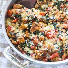 Skillet White Bean Tomato Casserole Recipe
