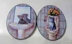"""Декупаж - Сайт любителей декупажа - DCPG.RU   """"Дверные таблички"""" № 9. Бирочки на двери ванной и туалетной комнат.   Click on photo to see more! Нажмите на фото чтобы увидеть больше! decoupage art craft handmade home decor DIY do it yourself Materials and techniques: prints acrylic paint varnish etc."""