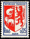 Armoiries d´Auch Armoiries des villes de France (Dixième série) - Timbre de 1966