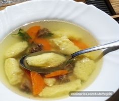 Griz knedle u juhi -soup with dumplings