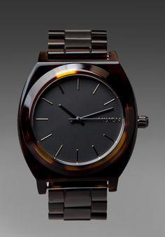 Nixon  Add To Boutique  The Time Teller Acetate in Matte Black/Dark Tortoise