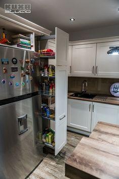 Comuna Butimanu   Kuxa Studio   Marius-Daniel Kitchen Cabinets, Kitchen Appliances, French Door Refrigerator, French Doors, Studio, Home Decor, Diy Kitchen Appliances, Home Appliances, Decoration Home