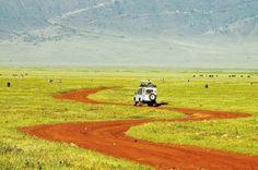 Land Rover Defender in Africa.