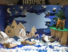Hermès  - April 2014 - London via retailstorewindows.com