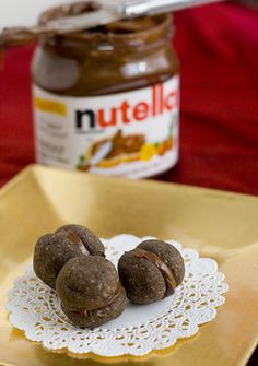 Chocolate Nutella Cookie Sandwiches for World Nutella Day