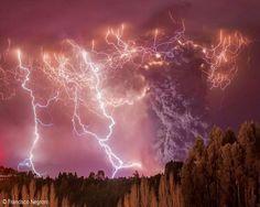 Tormenta en el Parque Nacional Puyehue, en el sur de Chile (Francisco Negroni, 2014)