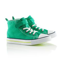 H Canvas basketball shoes with elasticated front laces and a Velcro tab. 100% cotton.  $9.95