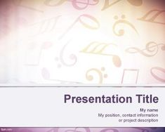 Es un diseño hermoso... Lástima que no tenga nada que ver con mi disertación. #ppt #powerpoint #presentation Sheet Music Background for PowerPoint