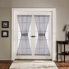 Gray Antique Sheer 4 Piece Door Panel by Triangle Home Fashions