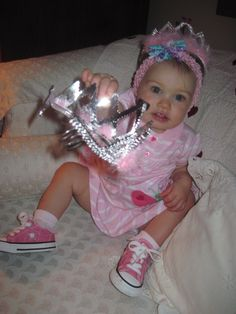 Lola Gray getting ready for a tiny tea party
