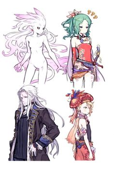 Final Fantasy Terra Setzer and Relm Arte Final Fantasy, Final Fantasy Artwork, Final Fantasy Characters, Pixiv Fantasia, Art Anime, Estilo Anime, Fantasy Girl, Character Design Inspiration, Character Illustration