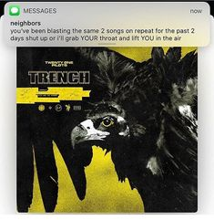 Available for pre-order now! Twenty One Pilots Trench out on Indie exclusive version on olive green vinyl is on our site now! These will very likely sell out so to make sure you get a copy it is highly recommended that you pre-order. Link in bio Tyler E Josh, Tyler Joseph, Indie Pop, Twenty One Pilot Memes, Screamo, Top Memes, Staying Alive, Lp Vinyl, Vinyl Records