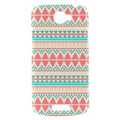 My New phone case!     New Beautiful Aztec Pattern HTC One S  Hardshell Case Cover HTC One S Case Pink Aztec Pattern. $17.00, via Etsy.