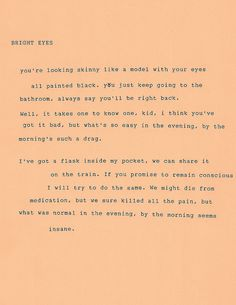 I don't even listen to Bright Eyes, but this is pretty.