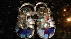 Disney Frozen Silver Sandals Size Toddler 7 - NWT!Free Gift ! #CasualShoes