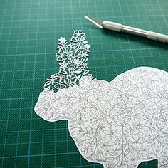 Papercut rabbit