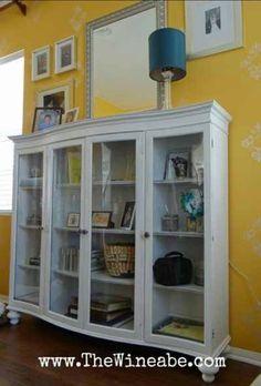 Hutch top turned bookcase/shelf