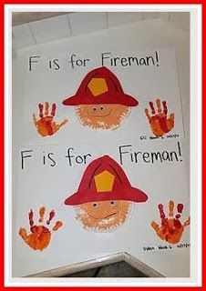 Fireman Craft, Fire Safety Week, Community Helpers, Firefighters For More Pins Like This Visit: Preschool Projects, Daycare Crafts, Classroom Crafts, Preschool Activities, Fire Truck Activities, Preschool Transitions, Space Activities, Family Activities, Art Projects