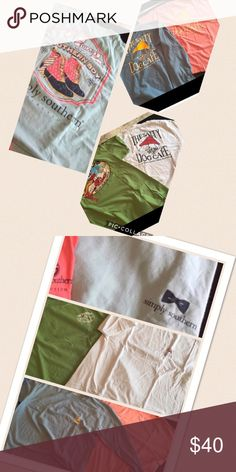 5 (FIVE) T-Shirts!! 3 Salty Dog (2 short sleeve one long sleeve) 1 crazy crab (short sleeve) and 1 (simply southern) Tops Tees - Short Sleeve