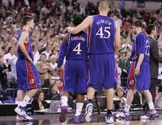 Cole Aldrich (@Thunder now) and Sherron Collins.