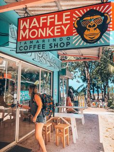 Best coffee in Tamarindo Costa Rica - Waffle Monkey