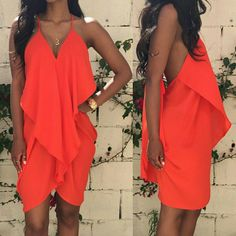 High Low Dress Orange Or White